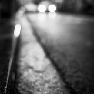 Lluvia sobre el asfalto